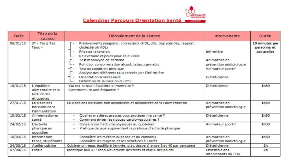 calendrier prévention santé mutualité francaise